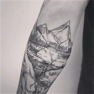 ce paysage tr s labor tattoo tatouage tatouage. Black Bedroom Furniture Sets. Home Design Ideas