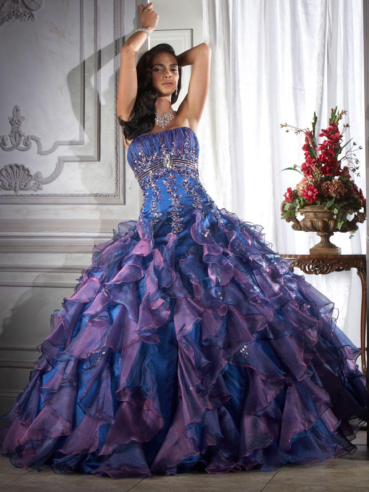 Small Crop Of Purple Wedding Dress