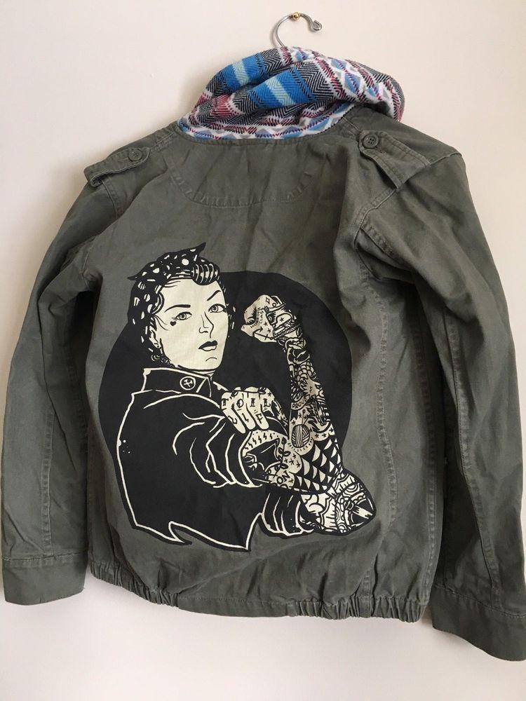 Women/'s Black Tee Black Market Custom Art We Can Do It Tattooed Rosie Riveter