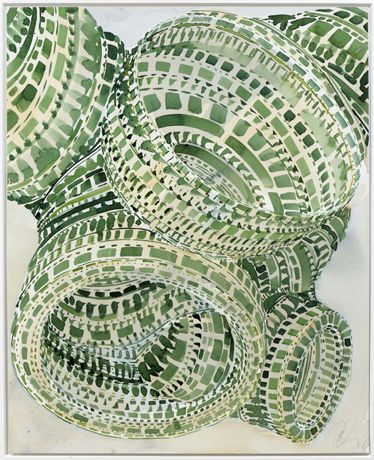 'Chromosome 4' by Tony Cragg. watercolor
