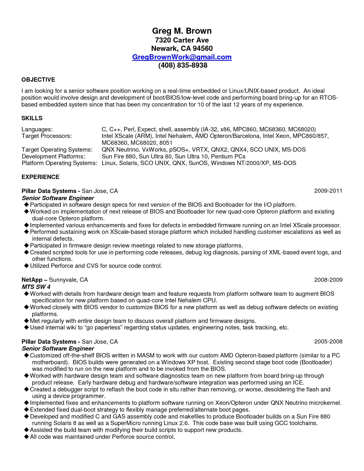 Sample Senior Software Engineer Resume Teacher Resume Template Free Teacher Resume Template Resume Template