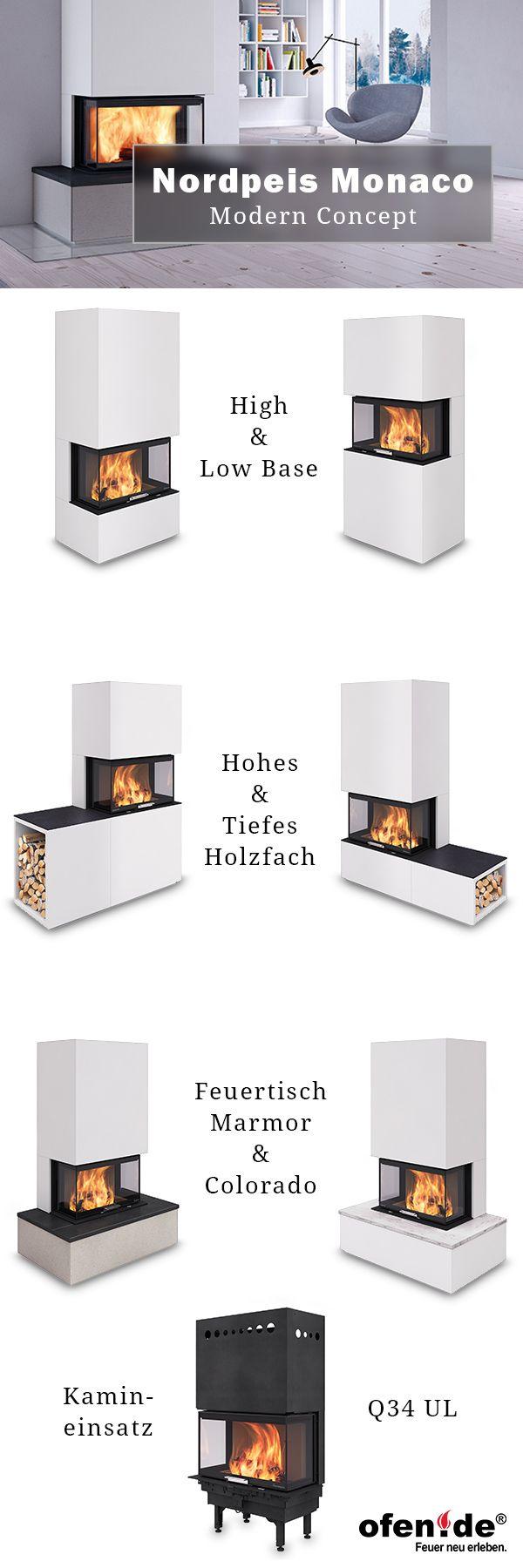 der neue nordpeis monaco 3 seitiger kamin brennkammer q34 ul mit vielen kombinationen alle. Black Bedroom Furniture Sets. Home Design Ideas