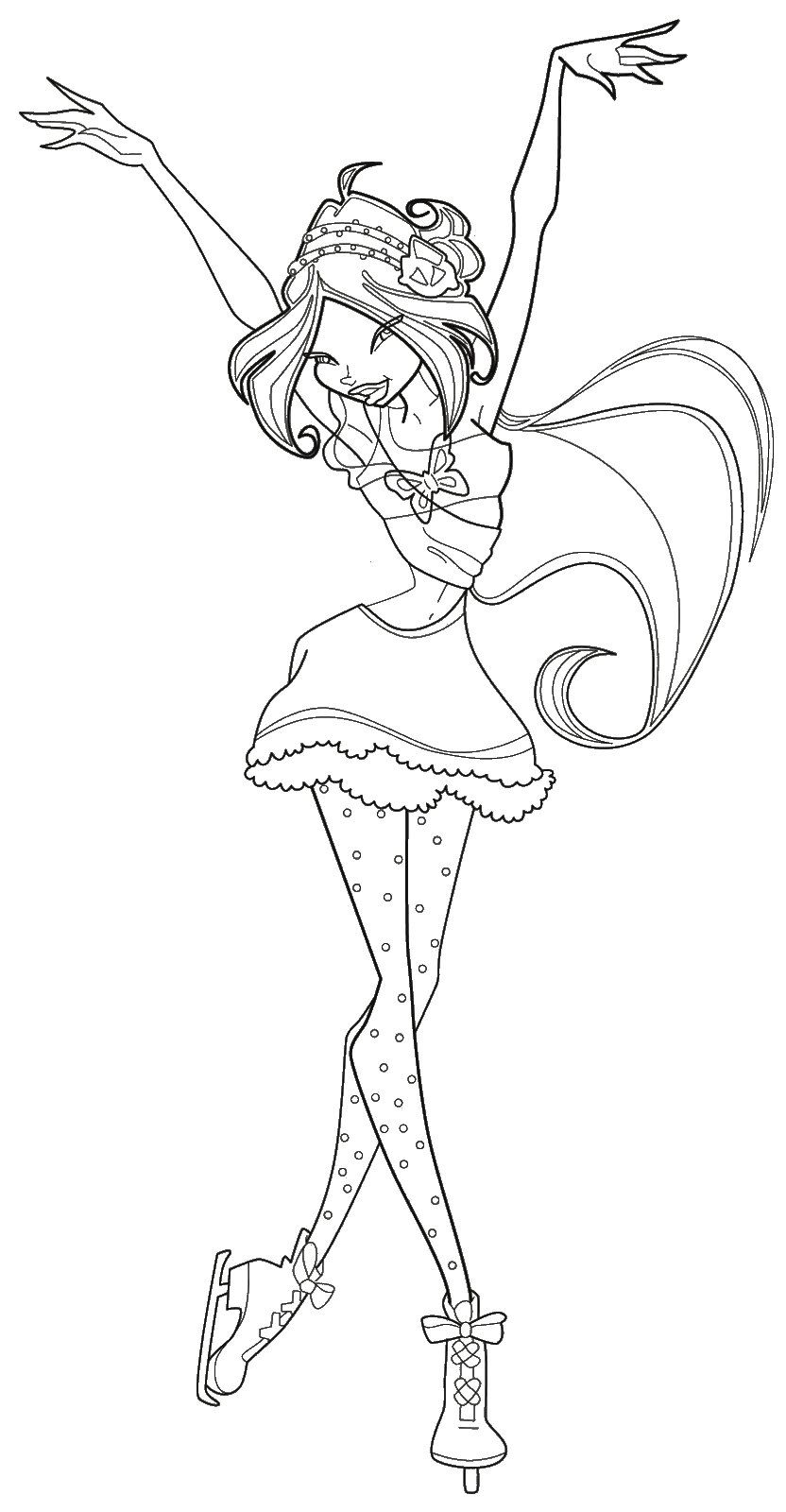 Winx Flora Coloring Pages Resim
