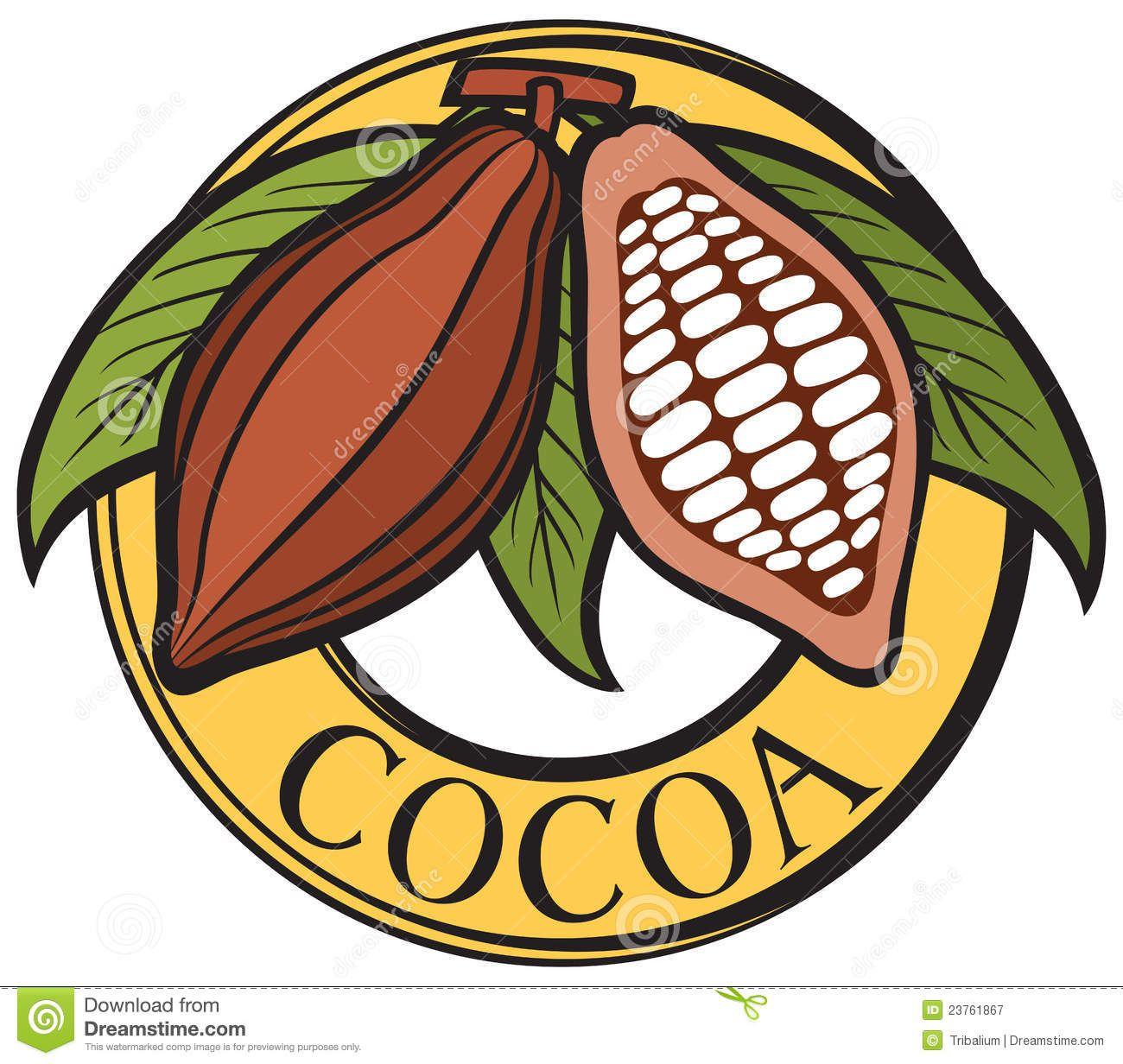 Cocoa Bean Plant Google Search Chocolate Logo Vector Stock Vector