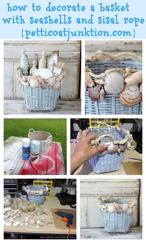 Seashell Home Decor With Images Sea Shell Decor Beach Crafts