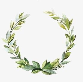 Small Fresh Garland, Green Garland, Decorative Wreath, Garland Border PNG Transparent Image and Clipart for Free Download #menus