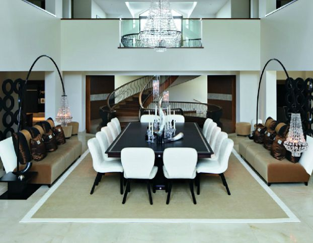 The Modern Mansion By Kelly Hoppen Interior Design Dining Room Modern Mansion Dining Room Living Room And Dining Room Design