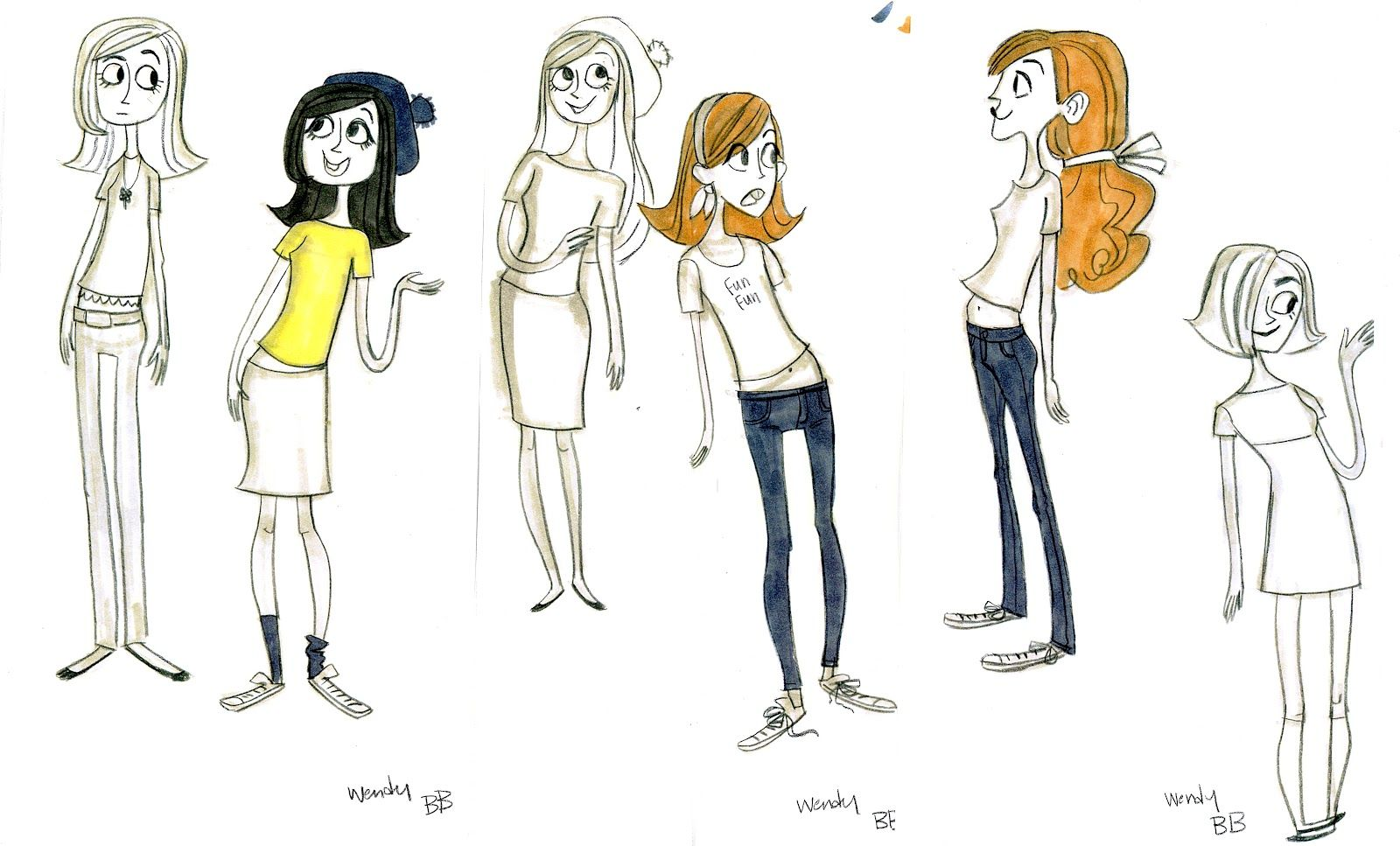Concept Art Gravity Falls Character Design