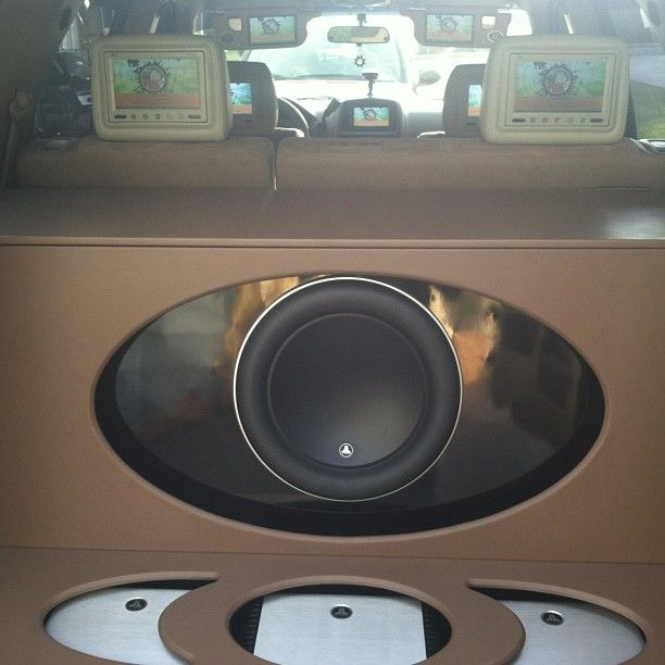 custom car stereo trunk install JL Audio