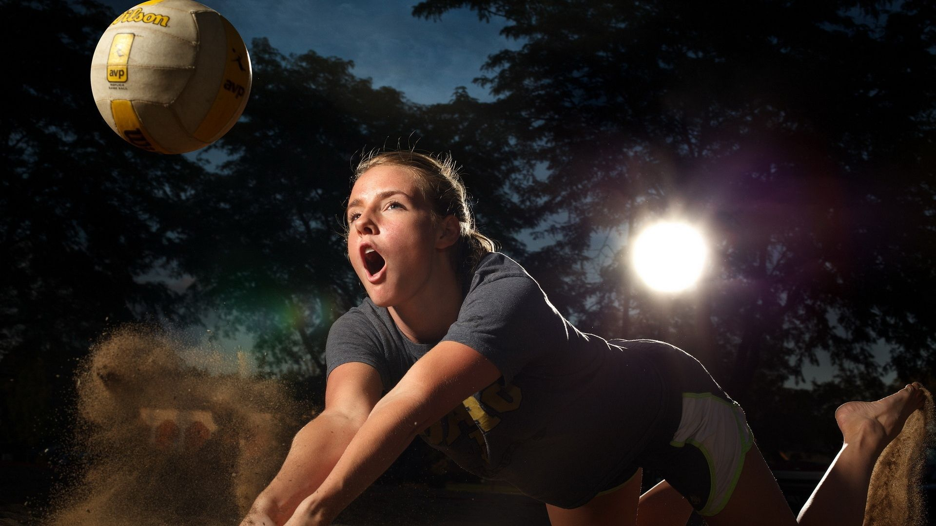 Download Wallpaper 1920x1080 Volleyball Sports Girl Full Hd 1080p Hd Background Sport Girl Sports Volleyball