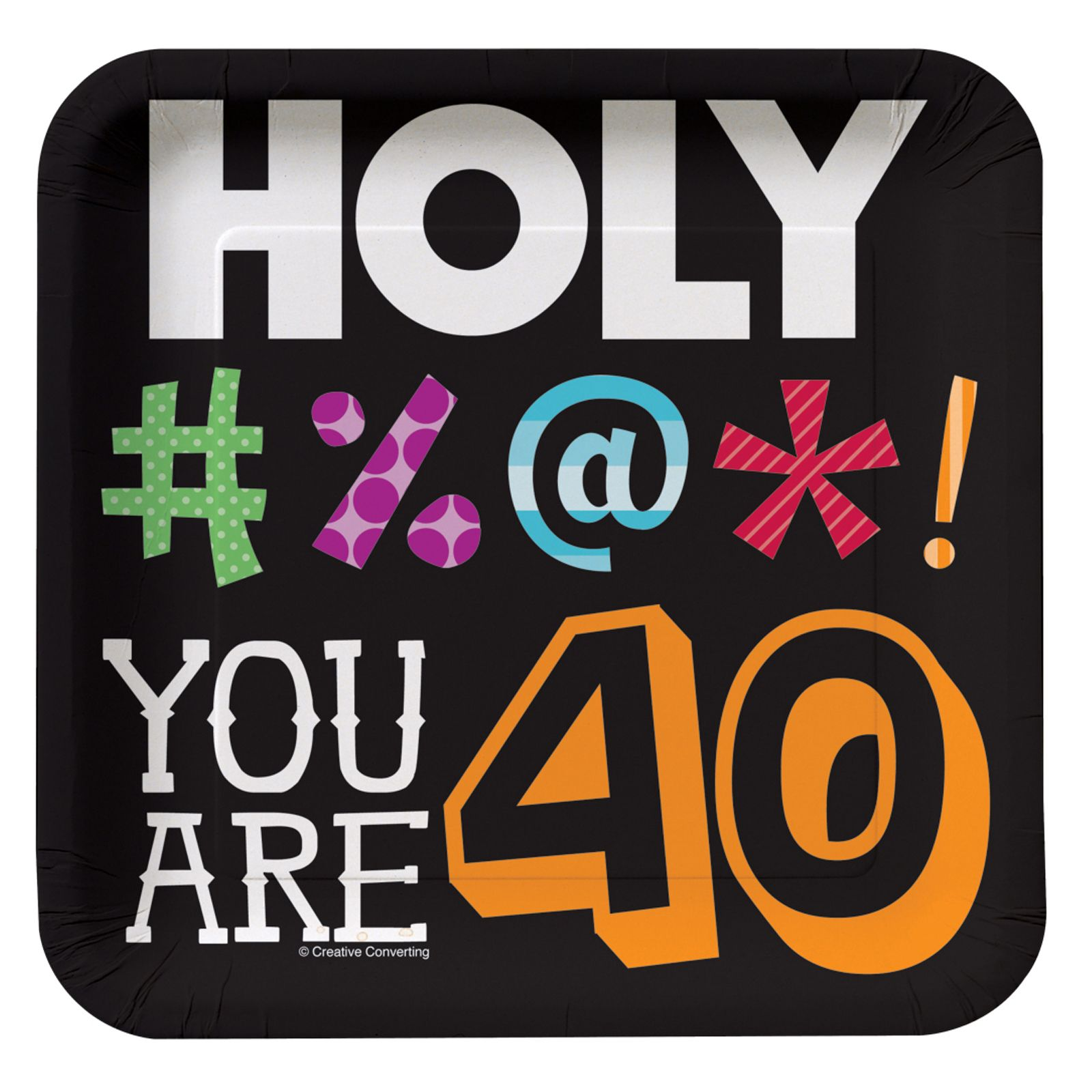 Holy Bleep 40th Birthday - Square Dessert Plates