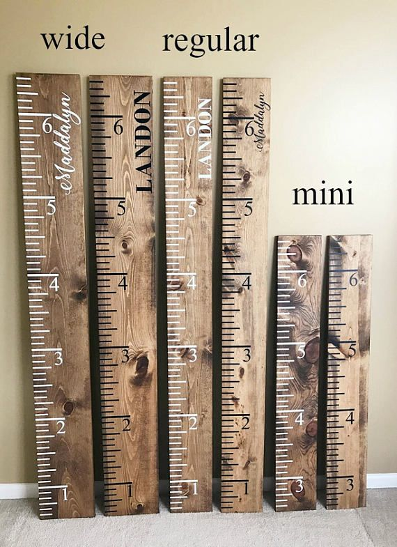 Wood Ruler Large Vintage Growth Chart Oversized Ruler Wooden