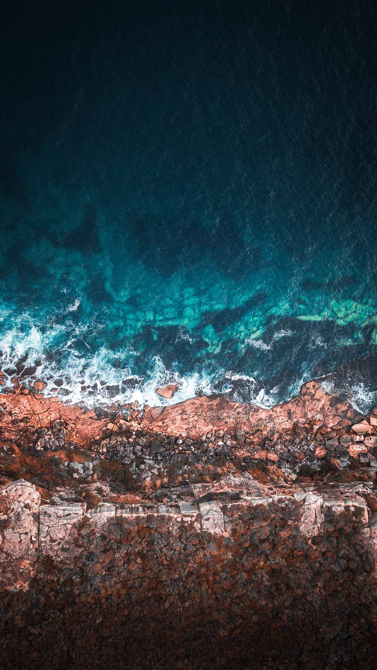9 Best Ocean Iphone Xs Wallpapers Best Water Beach Sea Backgrounds Latar Belakang Pemandangan Pantai