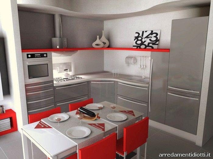 Cucina skyline e soggiorno link con porta tv diotti a f for Las arredamenti