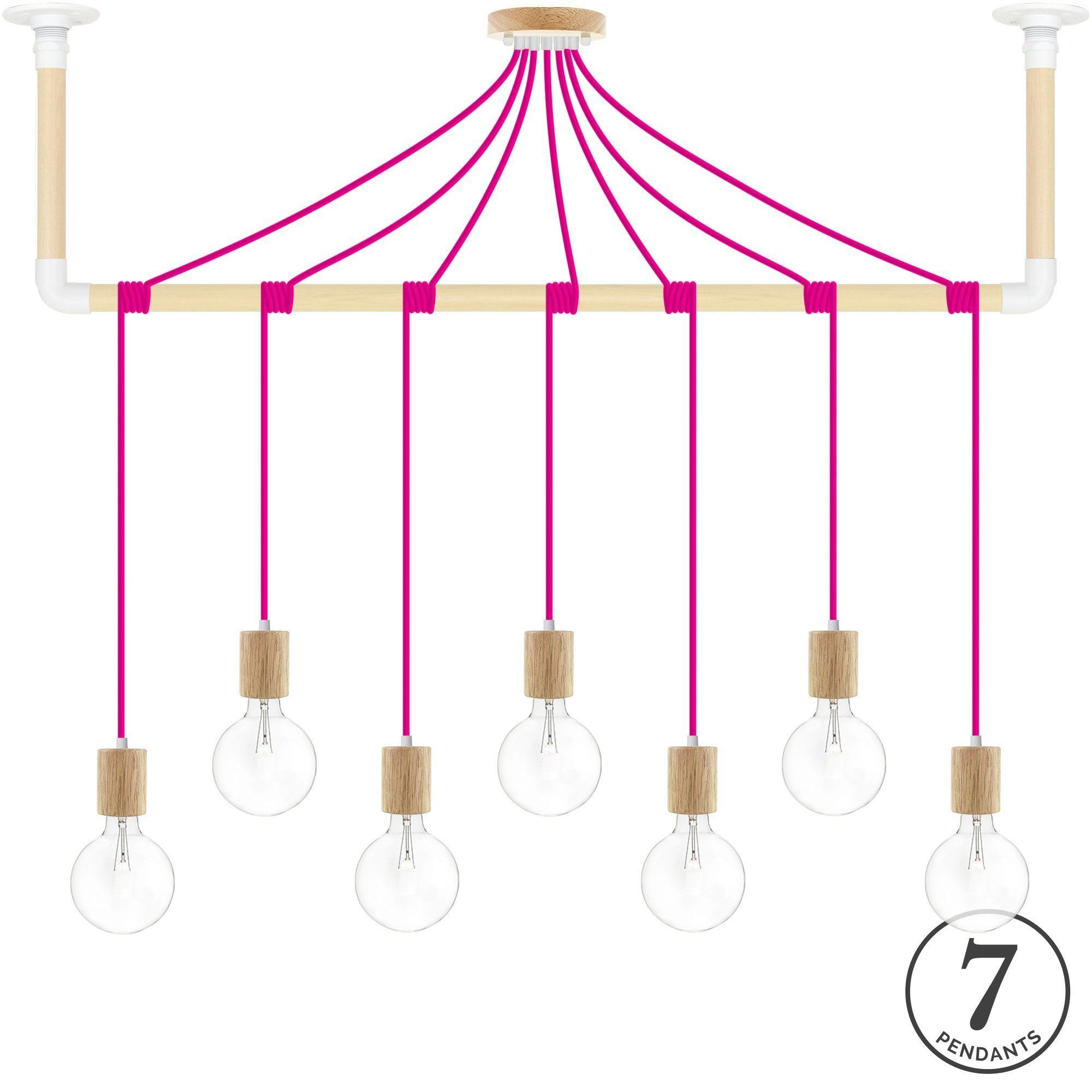 Wrap Chandelier - Pink and White