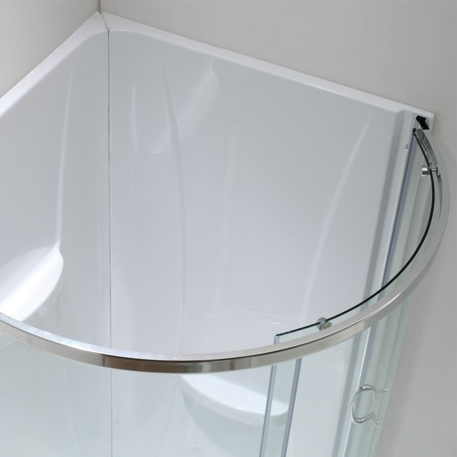 Shop Ove Decors Breeze Chrome Acrylic Wall and Floor Round 4-Piece ...
