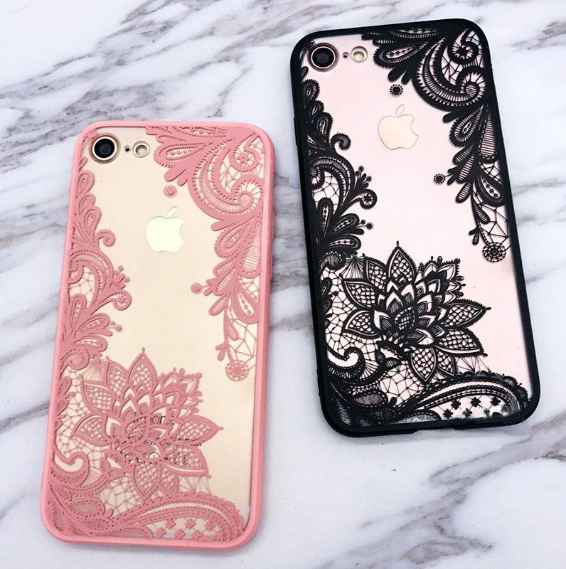 Floral lace henna iphone 7 8 cases retailite iphone