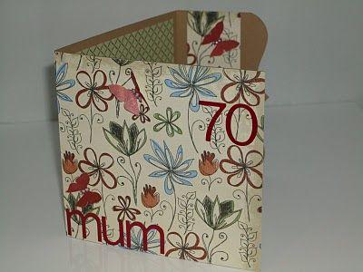Mum 70th Birthday Card Card Inspiration Pinterest 70th