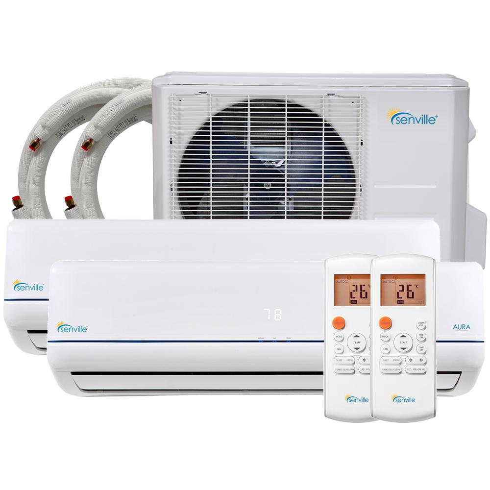 28000 BTU Dual Zone Mini Split Air Conditioner Heat Pump