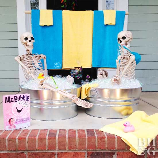 Spooky Skeleton Decorations for a Halloween Yard That Wows Clear - not so scary halloween decorations