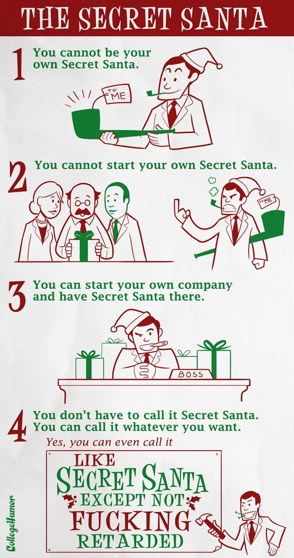 Insignificant Knowledge Secret Santa Official Rules Secret Santa Rules Secret Santa Funny Santa Quotes