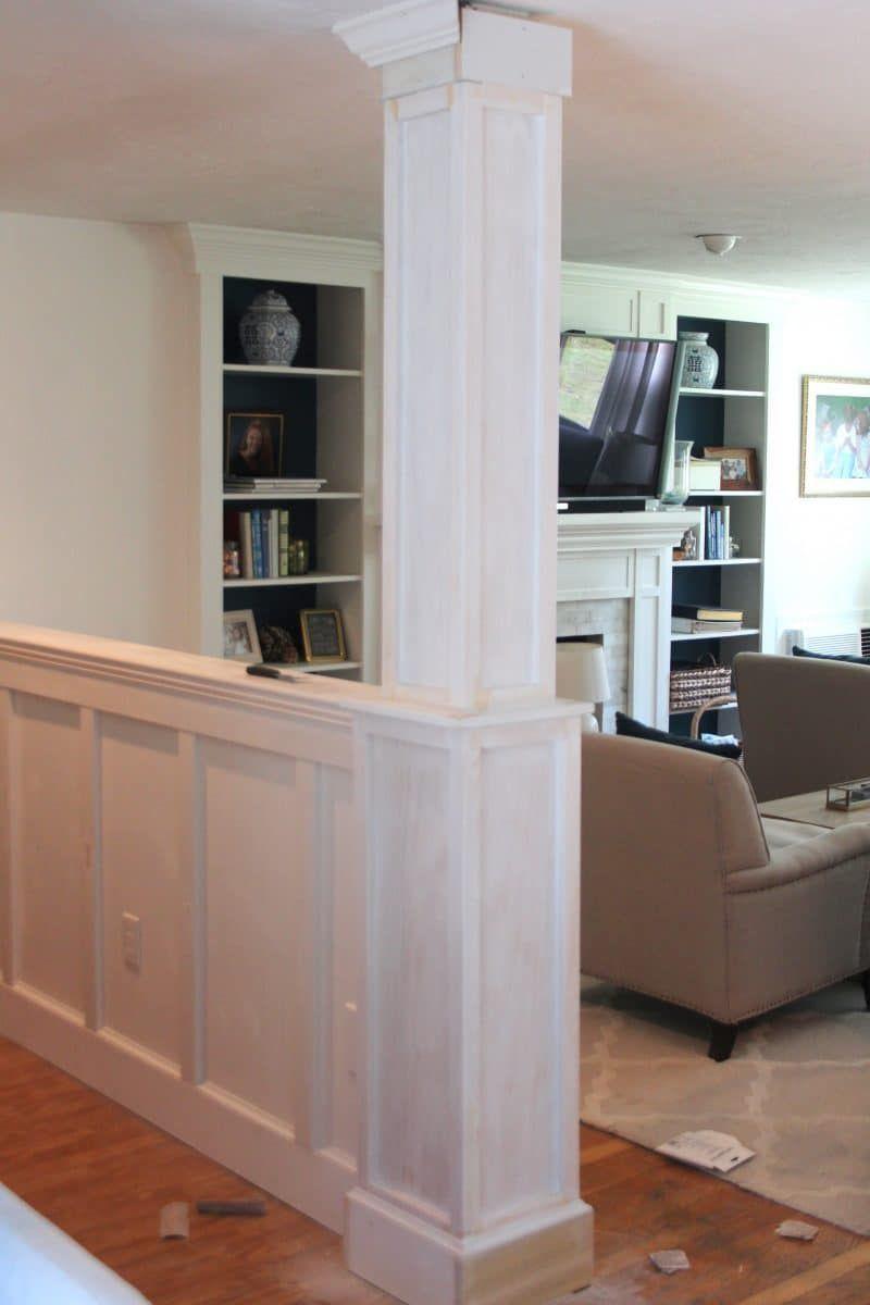Half Wall & Column Remodel | Half walls, Half wall kitchen ...