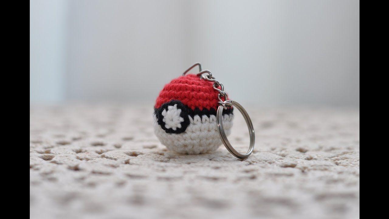 Amigurumi   Como hacer un Pokeball para llavero en crochet   Bibiana ...