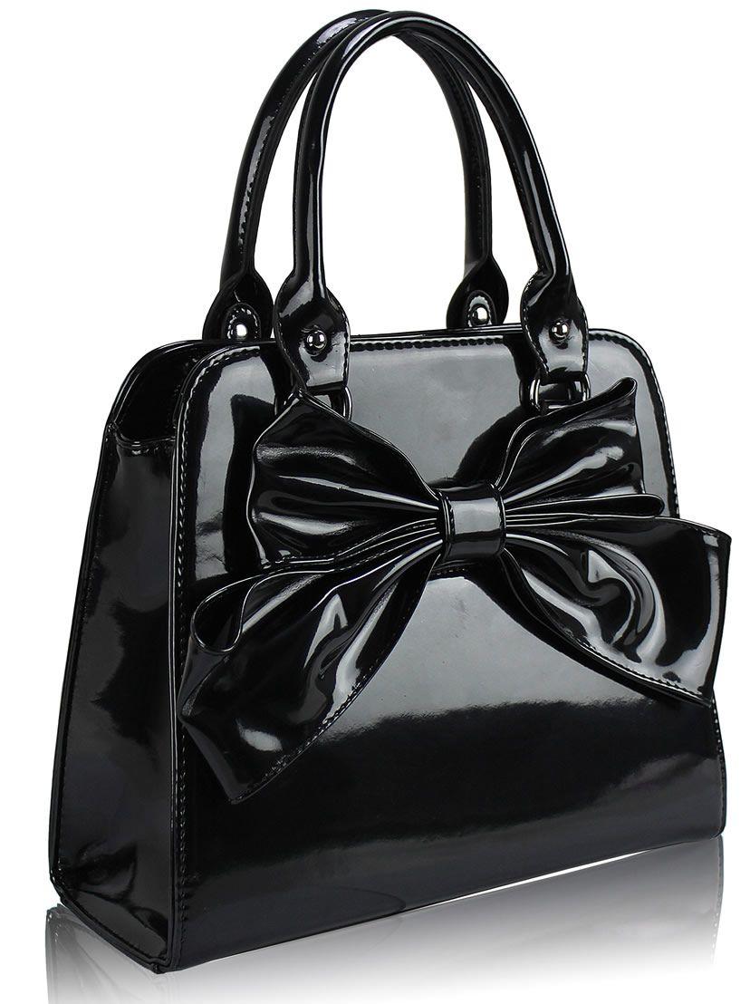 small black bow handbags uk - Google Search