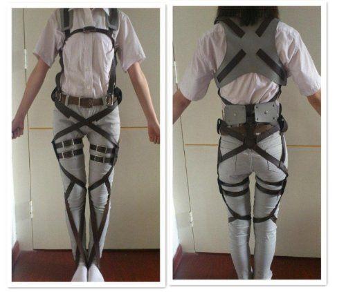 Cosplay Attack on Titan Shingeki no Kyojin Recon Corps Belt Hookshot Costume HiRudolph http://www.amazon.com/dp/B00GHH13QA/ref=cm_sw_r_pi_dp_tdnIvb0KW9F3F