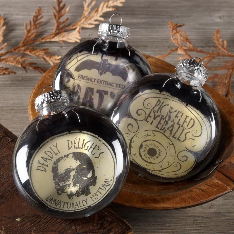 Black and White Halloween Ornaments Diy halloween