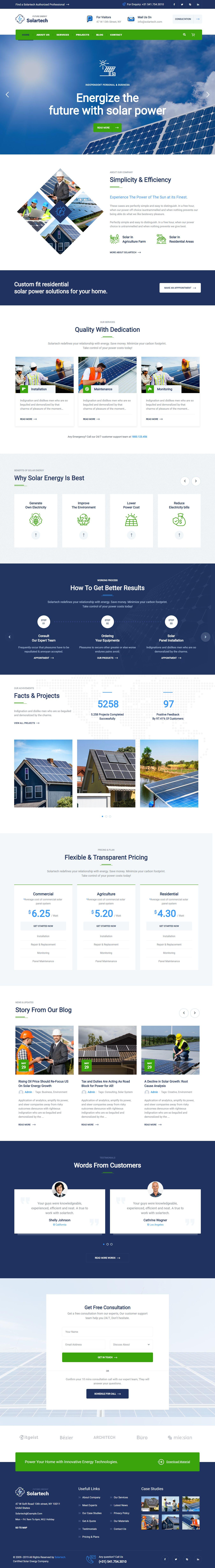 Alternative Amp Renewable Energy Wordpress Theme