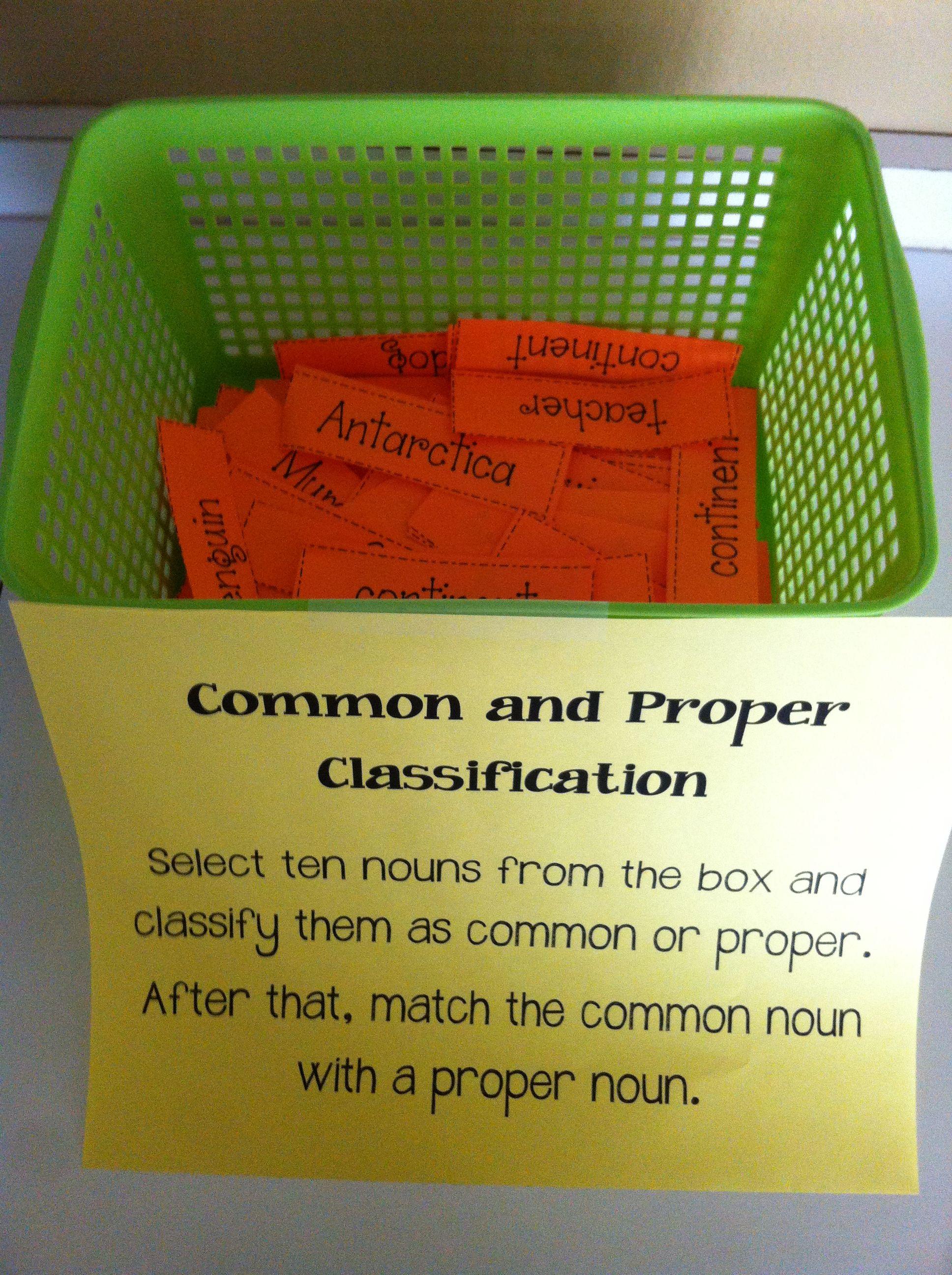 Common And Proper Nouns Classification Center