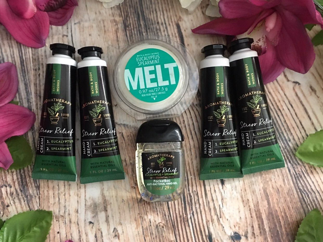 Stress Relief Eucalyptus Spearmint Includes 4 Hand Lotions 1