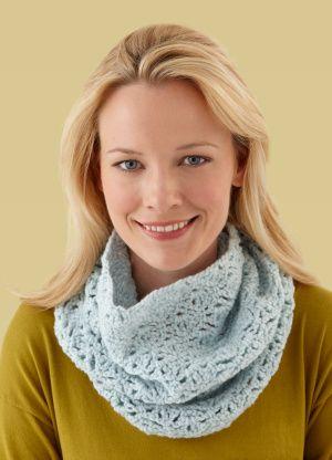 Free Crochet Pattern L10159 Crochet Lace Cowl : Lion Brand Yarn ...