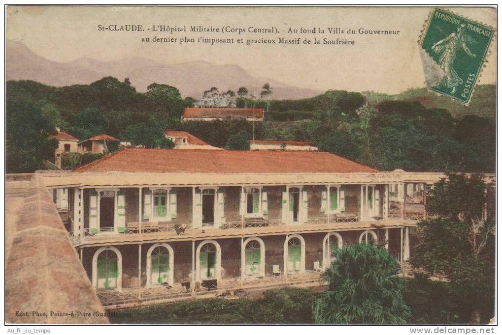 Cartes Postales / hôpital saint claude de guadeloupe - Delcampenet