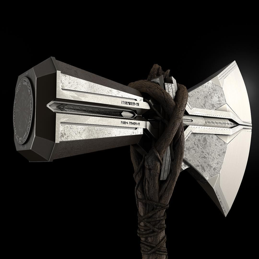 Runes Say Stormbreaker Loose The Dogs Of War And Worthy Vengeance The Mighty Thor Marvel Cosplay Stormbreaker Thor