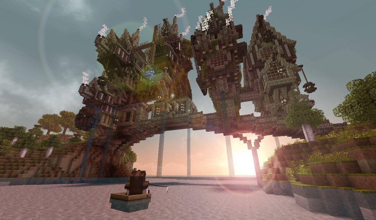 Steampunk Minecraft Bridge Minecraft Building Ideas