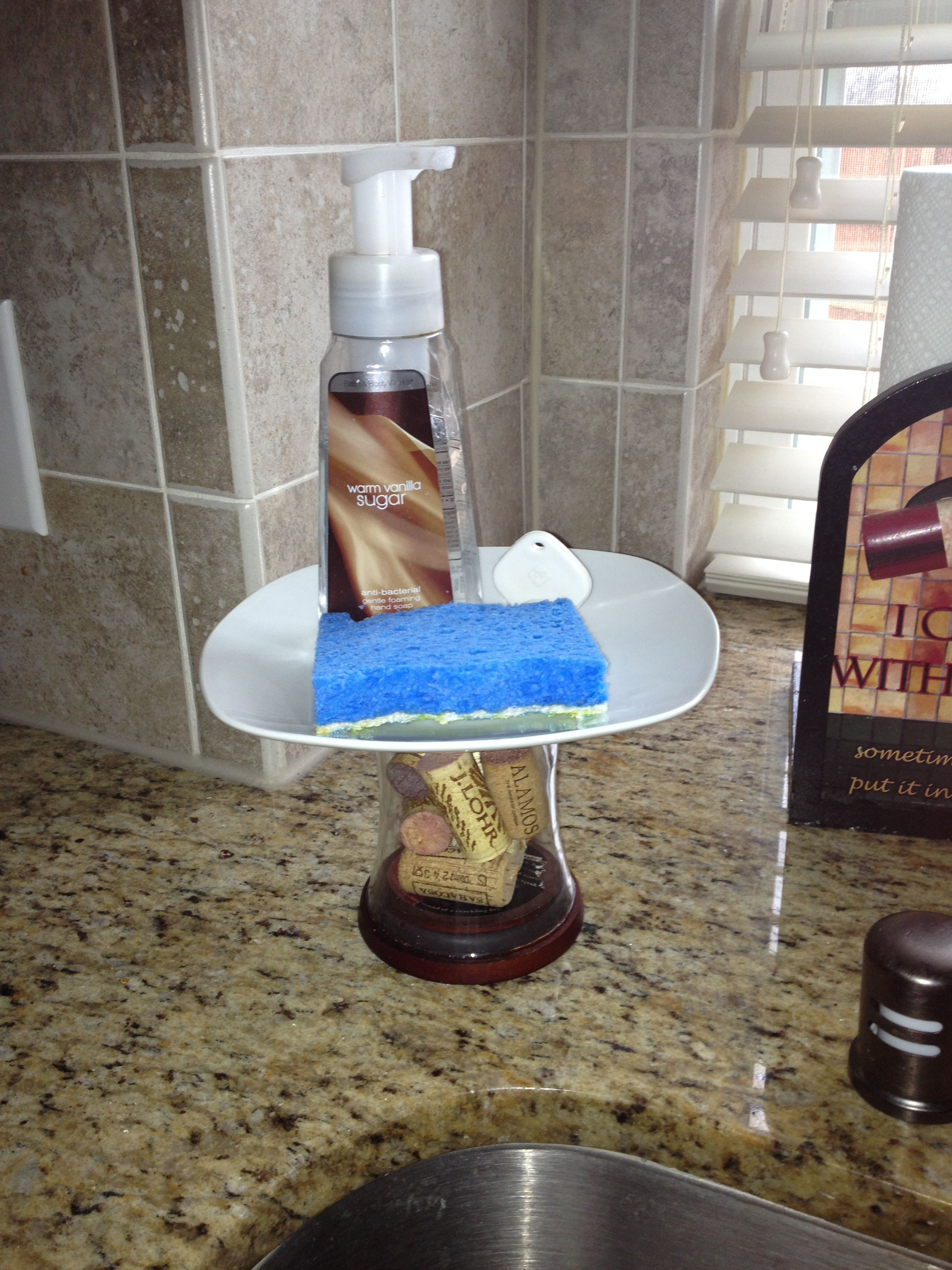 Diy Kitchen Soap Stand Instead Of Using A Cake Stand I