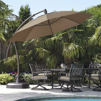 Costco 11 Cantilever Patio Umbrella With Base With Images