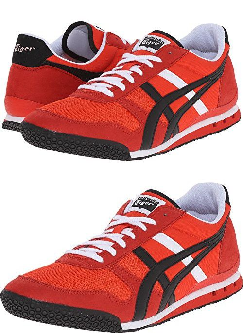 7c9762290dd6 Onitsuka Tiger by Asics Unisex Ultimate 81  Fiery Red Sneaker Men s ...