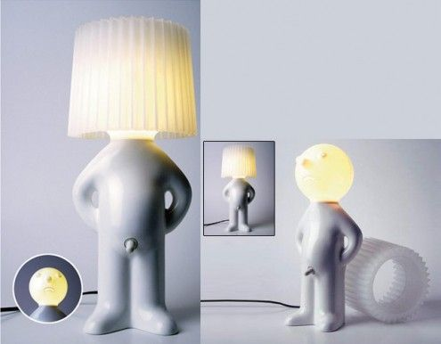 Fancy and innovative lights to decorate any room unique and unusual shy man lamp