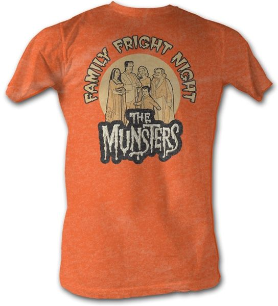 The Munsters TV Show FAMILY PORTRAIT Licensed Adult Heather T-Shirt All Sizes