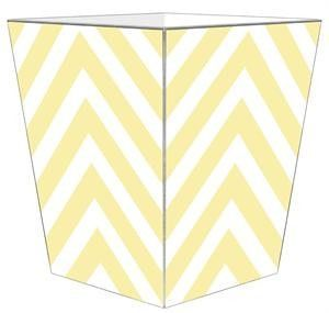 Butter Chevron Grande Personalized Wastepaper Basket