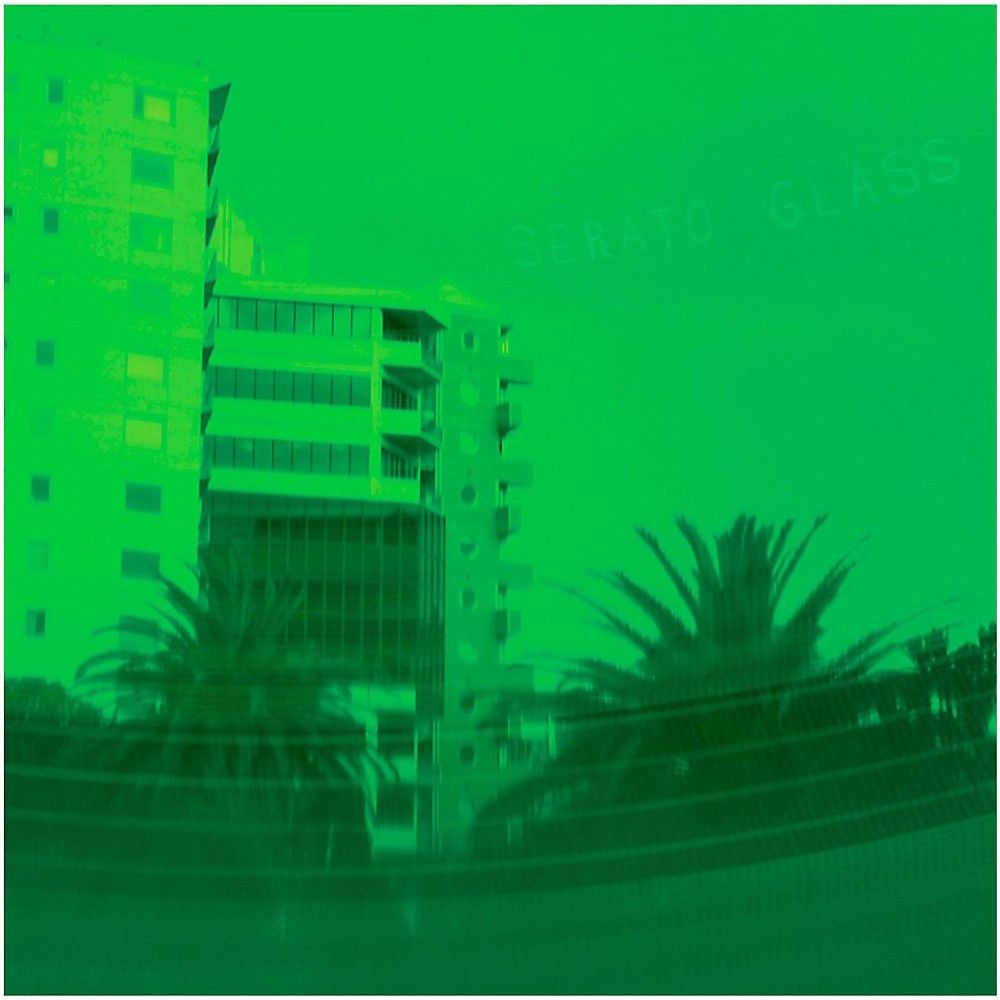 Serato 10 Inch Control Vinyl Glass Series Pair Green