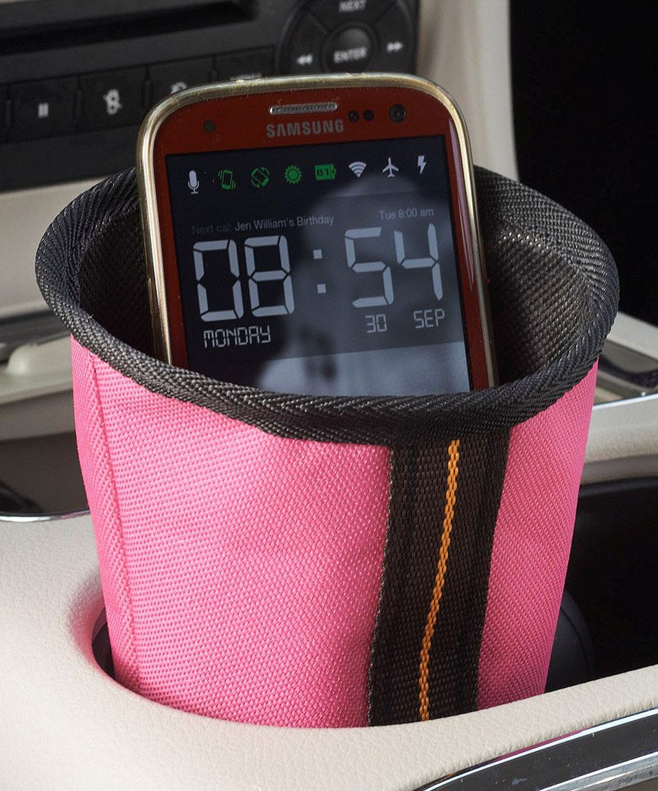 This Pink Cup Holder Phone Caddy by High Road is perfect! #zulilyfinds