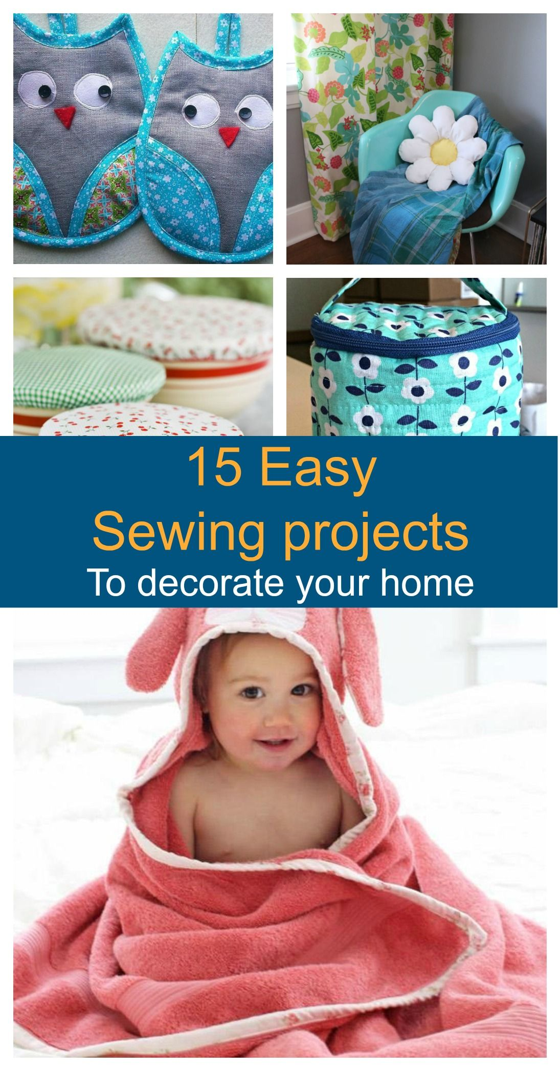 FREE PATTERN ALERT: 15 Easy Sewing projects for Home | Nähen