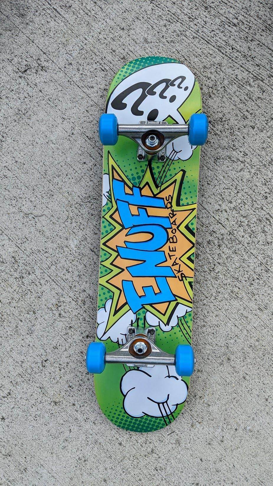 Enuff Pow Green X Independent Mini Junior Custom Complete Skateboard 7 25 In 2020 Complete Skateboards Mini Skateboard Skateboard