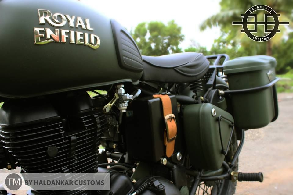 Encode Olive Green Military Color Royal Enfield Classic 350cc Paint