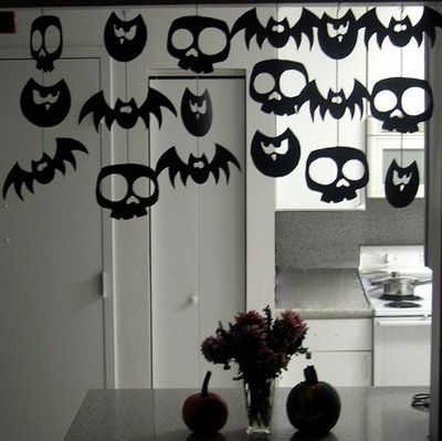guirlande halloween d co halloween fabriquer. Black Bedroom Furniture Sets. Home Design Ideas