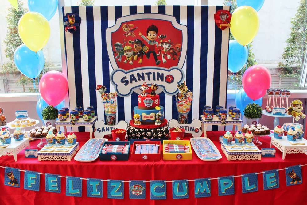 Check Out This Awesome Paw Patrol Birthday Party Love The Dessert TableSee More Ideas And Share Yours At CatchMyParty